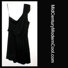 Express Tarzan Little Black Dress, Sz Medium Slinky Flowing Trendy Cute Dress NEW WITH TAGS!  U.S. Orders  - $19.99 Shipped!  http://www.midcenturymoderncool.com/ExpressTarzanDress.html