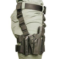BlackHawk Level 2 Tactical SERPA Holster, Fits 19/11 Government With or Without Rail, Right Hand, Black