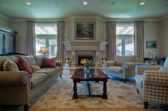 Comfy family room Source:Mark Walhberg Beverly Hills Estate | Hilton Hyland