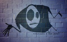 Mascot on the wall graffiti pictures - Wallpapers and backgrounds Graffiti Pictures, Widescreen Wallpaper, Wallpapers, Hd Desktop, Superhero Logos, Street Art, Batman, Animation, Backgrounds