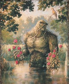 "potionpoop: ""extraordinarycomics: ""  Swamp Thing by Stephen Bissette. "" special spot """