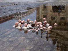 """Cette oeuvre cynique a pour nom """"les politiciens discutant du réchauffement climatique"""". - SCMB Images"""