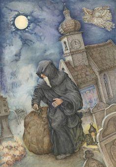 Il ladro maestro F. Grimm Illustrazione Lucia Campinoti
