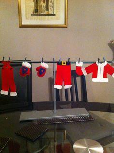 Santa's washing line! Handmade by Alybaly.