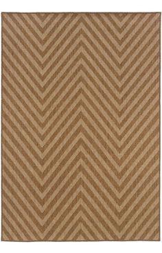Oriental Weavers Sphinx Karavia Outdoor 1330X Tan Rug | Contemporary Rugs