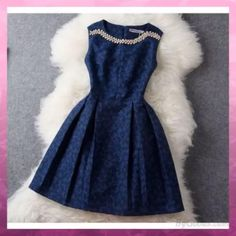 Unique Jacquard Beading Rhinestone Embroidered Dress &Party Dress #dres Pretty Outfits, Pretty Dresses, Beautiful Dresses, Gorgeous Dress, Fall Outfits, Lace Dresses, Short Dresses, Wedding Dresses, Sleeveless Dresses