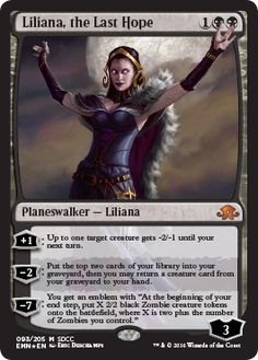 Liliana, the Last Hope SDCC 2016 foil promo planeswalker Magic the Gathering card