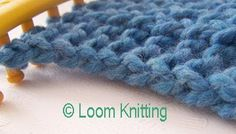 Loom Knitting: Slipped Stitch Edge