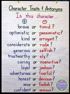 6680fcb8e Check out these FREE character trait activities! This blog post contains a  character traits ANCHOR