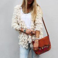 Beige Furry Cardigan Beige, Shoulder Bag, Jewellery, Style, Fashion, Fashion Styles, Swag, Moda, Jewels