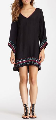 Embroidered Tunic Dress I am lovin the shoes!!