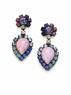 DANNIJO Swarovski Crystal Earrings