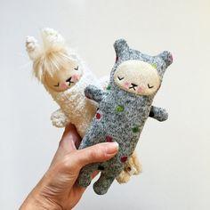 Kawaii Teddy Bear Stuffed Animal Sleepy Plushie by bijoukitty