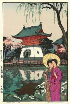 Shinobazu Pond 1928 Beautiful Wood Block Prints by Hiroshi Yoshida   I.D. 36