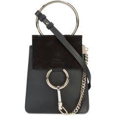 Chloé Mini Faye shoulder bag ($825) ❤ liked on Polyvore featuring bags, handbags, shoulder bags, black, leather purses, genuine leather shoulder bag, chloe shoulder bag, shoulder handbags and mini shoulder bag