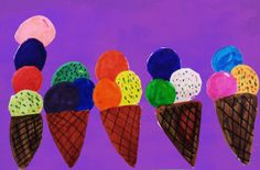 Mixed media,#icecream, I used copic markers and Sketch markers then added the background on photoshop and added filter to it,