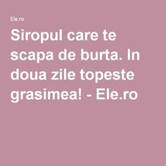 In doua zile topeste grasimea! Salvia, Healthy, Fitness, Pharmacy, The Body, Sage, Health