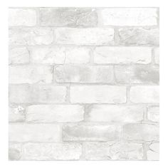 Make your space feel like a trendy loft with a faux exposed brick wall. The white bricks provide a crisp backdrop to style your home decor around. Loft White Brick Peel & Stick Wallpaper comes on one roll that measures x White Brick Wallpaper, Rustic Wallpaper, White Brick Walls, Grey Brick, White Bricks, White Brick Backsplash, Classic Wallpaper, Embossed Wallpaper, Granite Backsplash