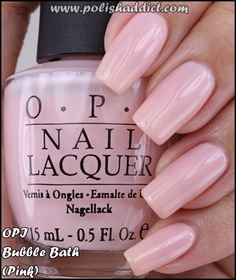 """for all of you """"natural looking nail polish pinterest posters"""" the color is called BUBBLE BATH. Learn it. Live it. Love it."""
