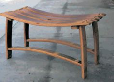 If only I had some outdoor space...cool company that makes furniture from wine barrels