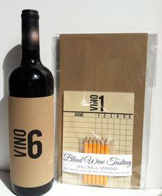 Blind Wine Tasting Kit by haydenporter on Etsy