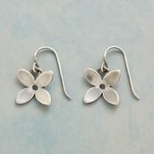 These sterling silver flower earrings will brighten your look with their pure loveliness.