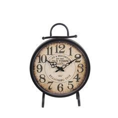 Privilege International Metal Clock (12.5x4.5x18), Black