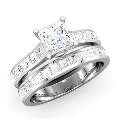 Beautiful Princess Cut Diamond Engagement Rings