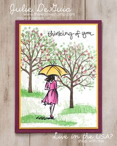 Masking by Julie: Beautiful You, Sheltering Tree, Gorgeous Grunge, Watercolor Pencils - all from Stampin' Up!