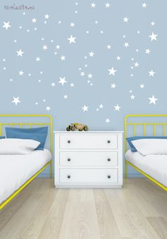 Lovely white nursery little stars Wall Decal Vinyl Sticker. Looks great everywhere, on kids room, nursery rooms, playrooms, and also, applied to