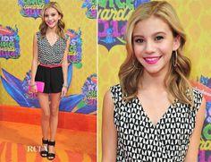 Genevieve Hannelius In Aqua - Nickelodeon Kids' Choice Awards 2014