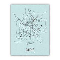 Paris Screenprint Blue, $21.25, now featured on Fab.