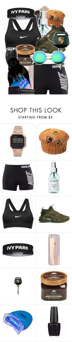 """""""-"""" by ceraunophile ❤ liked on Polyvore featuring Nixon, NIKE, Topshop, Porsche, ULTA, OPI, ZeroUV and typeoriginal"""