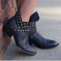 Free People Matisse Studded Cowgirl Ankle Boots Add some sass to your outfit with Matisse's vegan leather distressed cowgirl ankle boots. Silver studs pop against the asymmetrical shaft. These booties have a side zipper and the cushioned footbed provides last comfort. Brand new in box. Will add actual photos. Feel free to ask any questions.✌️ Free People Shoes Ankle Boots & Booties
