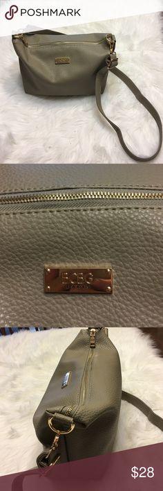 "BCBG PARIS Crossbody Bag Color Grey NWOT NWOT ,roomy ,lightweight 10""H.  14""W.   4,5"" D. BCBG Paris Bags"