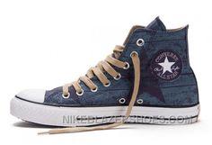 8928174b244566 Blue CONVERSE All Star Print Chuck Taylor Stonewashed Canvas High Tops Shoes  Christmas Deals FQA8c