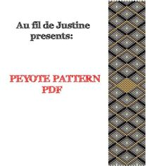 TUTORIEL Peyote Pattern Miyuki - Geometric 5