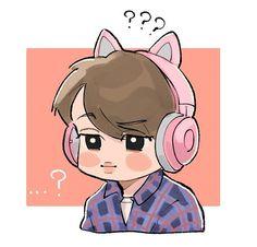 Bts And Exo, Exo Kai, Chanbaek, Exo Cartoon, Exo Stickers, Exo Anime, Cute Couple Wallpaper, Exo Fan Art, Exo Lockscreen