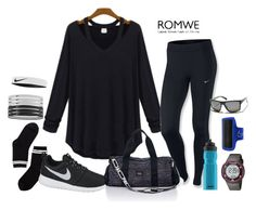 """Romwe Contest"" by eu-ju-cunha ❤ liked on Polyvore featuring NIKE, SIGG, Monki, Freestyle, Victoria's Secret PINK and VonZipper"