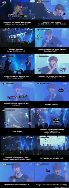 FTISLAND's Minhwan's last kiss? | allkpop Meme Center