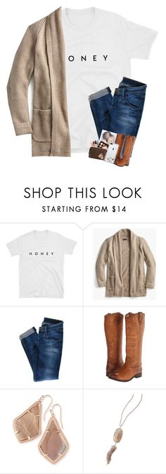 """""""oh 🍯! Rtd!"""" by hokieprepster ❤ liked on Polyvore featuring J.Crew, Hudson Jeans, Frye, Kendra Scott and Ray-Ban"""