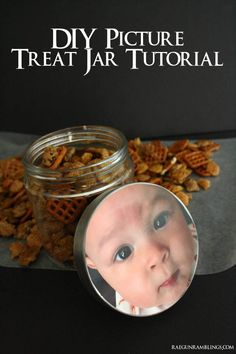 Photo Treat jar tutorial perfect for mother's day or father's day - Rae Gun Ramblings