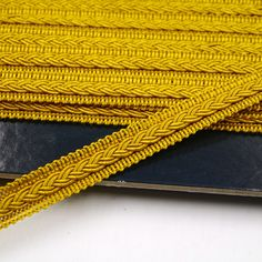 12mm Gimp Braid With Small Plait 9844 - Yellow Gold 0019
