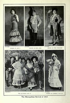 ublicity photographs relating to the revival of Bizet's opera Carmen at the Metropolitan Opera, New York, in January 1915, with Enrico Caruso and Geraldine Farrar.