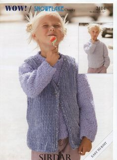 a10137d02e7ee3 SIRDAR WOW SNOWFLAKE CHUNKY gilet sweater KNITTING PATTERN