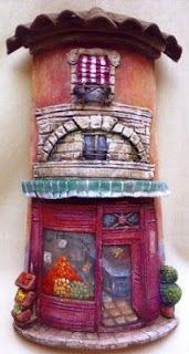 Artelujos: Tejas Decoradas, Fofuchas y Decoración Paper Mache, Polymer Clay, Diy And Crafts, Tiles, Clock, Ceramics, Fun, Home Decor, Tutorials