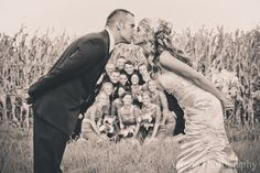 wedding, wedding photography, wedding photography ideas, ideas, black and white, kiss, wedding kiss, bridal party, corn field, country wedding, columbus, ohio, columbus ohio wedding photography  See more pictures at... www.facebook.com/asteriaphotography
