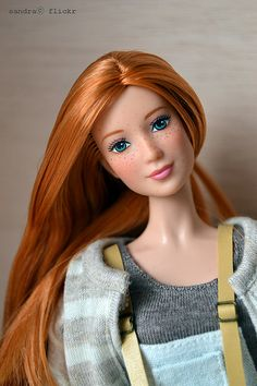 Love the ginger hair! And the freckles...this doll rather reminds me of a friend with both of those.