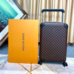 Louis Vuitton Damier Ebene Horizon 55 Luggage LV N23304 - Louis Vuitton Handbags Lv Handbags, Louis Vuitton Handbags, Louis Vuitton Monogram, Louis Vuitton Damier, Neverfull Gm, Monogram Canvas, Cowhide Leather, Best Gifts, Pouch