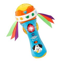 VTech baby rattles are great baby toys and baby gifts. Sing along with the Babble and Rattle Microphone by VTech! Just like a real microphone this interactive microphone amplifies your child's voice...